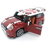 HLDX Jouets d'anniversaire Mini Cooper Voiture modèle Bricolage Blocs de...