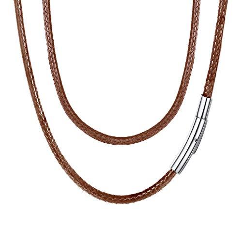 45cm lang wasserdichte Lederkette mit Karabinerverschluss perfekte an Geburtstag/Ostern/Valentinstag ()