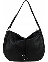 6f4b5e453679b BZNA Bag Ida Schwarz Black Italy Designer Damen Handtasche Schultertasche  Ledertasche Tasche Wildleder Prägung Shopper Neu