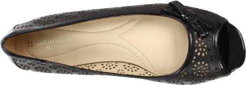 Naturalizer Pola Femmes Cuir Chaussure Plate Black