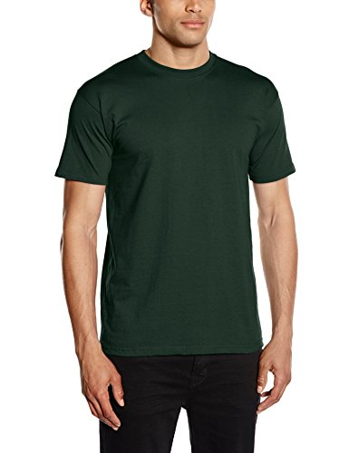 Fruit of the Loom Herren, Regular Fit, T-Shirt, Premium Tee Single, Green (Bottle Green), Medium (Herstellergröße: Medium) (Grün-erwachsenen Tee T-shirt)