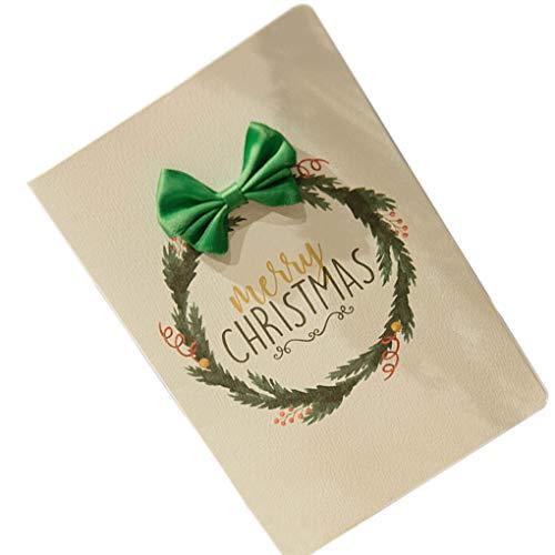 Aiming Handgemachte 3D-Karten Merry Xmas-Blumen-Drucken Weinlese-Knoten-Grußkarten des neuen Jahres Alles Gute zum Geburtstag Geschenke Postkarten (Zu Drucken Halloween-gruß-karten)