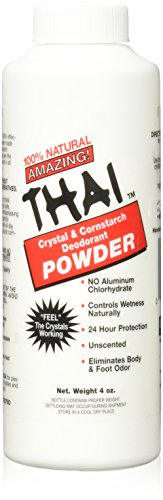 3 Oz Körperpuder (Thai Deodorant Stone Crystal And Corn Starch Deodorant Body Powder (1x3 Oz))