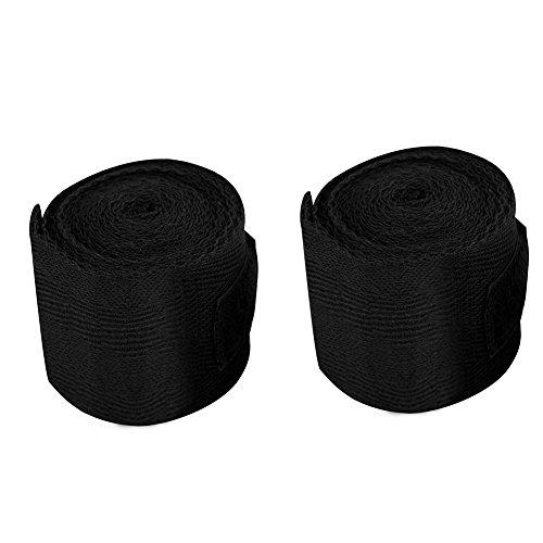 Handbandage Handgelenkbandage elastische Baumwolle Unterstützung Gym Straps Bandagen für MMA Boxen Muay Thai(Schwarz) -