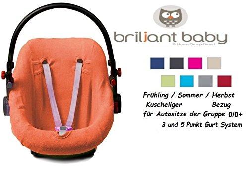 Haton Schonbezug für Babyschale Frottee Universal Ersatzbezug Gr. 0 (orange)