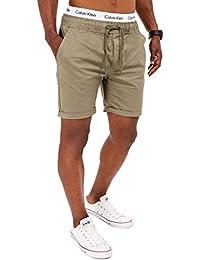 SOLID Herren 4-Pocket Chino Shorts mit Kordelzug Kurze Hose Washed Bermuda Sommerhose S M L XL XXL