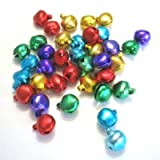 50 pieces 8mm Mixed Color Jingle Bells - A0070 by k2-accessories Charm Pendants