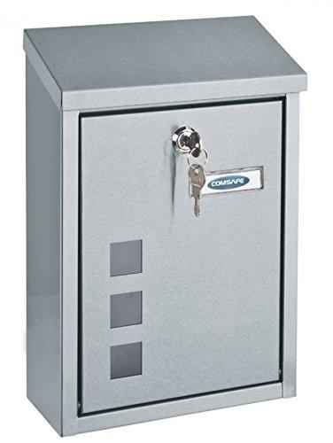 Rottner casa inox design della cassetta delle lettere in acciaio inox spazzolato con finestra, serratura a cilindro con 2chiavi e protezione patta, materiale di montaggio, 1pezzi, t06047