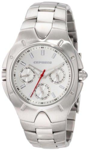 CEPHEUS - CP503-111 - Montre Homme - Quartz - Analogique - Bracelet Acier inoxydable Argent