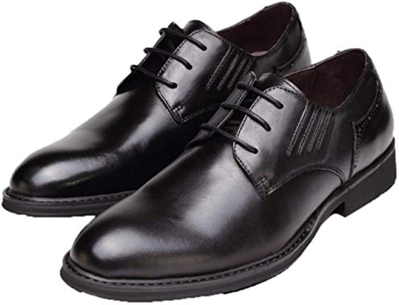 Vestido Zapatos Puntiagudos Zapatos De Hombre Negocios Zapatos Sueltos Cordones Zapatos De Cuero -