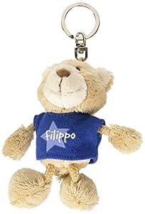 NICI n15872-Llavero Oso con Camiseta Filippo, Azul