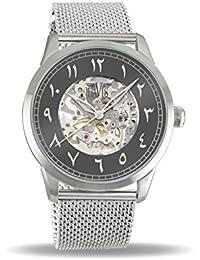 6c8147f37376 Davis Reloj Esqueleto para Unisex Adultos de Mecánico con Correa en Acero  Inoxidable 2170
