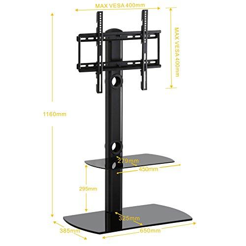 Fitueyes soporte para tv de suelo base giratorio con dos - Soporte suelo tv ...
