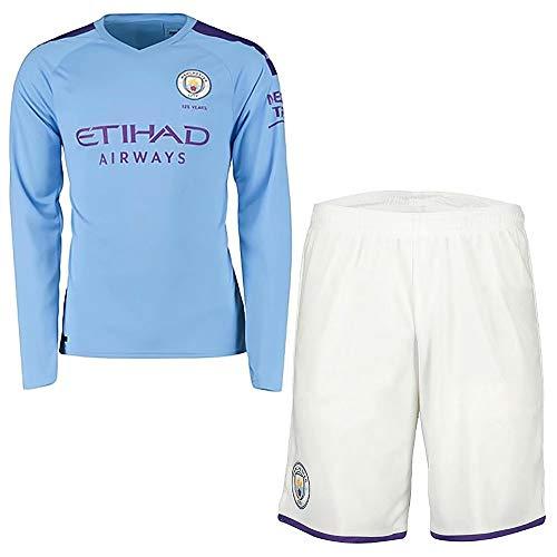 Onbaofu 2019-2020 football jersey nome e numero personalizzati maglia da calcio maglia manica lunga t-shirt e pantaloncini kit calcio da calcio per uomo unisex adulto
