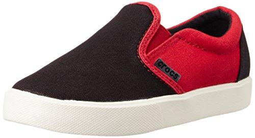 Crocs CitiLane Slip-on Sneaker Kids, Unisex - Kinder Low-Top, Schwarz (Black/Pepper), 29/30 EU (Kids Slip On)