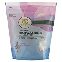 60 Loads , Thyme with Fig Leaf , Standard Packaging : Grab Green Natural Automatic Dishwashing Detergent Pods, Thyme with Fig Leaf, 60 Loads