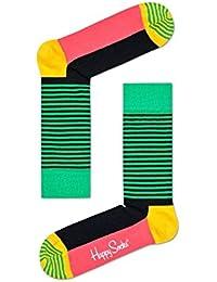 Happy Socks Demi Stripe Chaussettes Hommes, Vert/jamaican