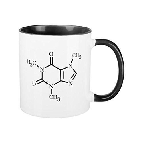 Regali per uomini motivazionale tazze divertente unico molecola di caffeina tazza in ceramica da entrambi i lati