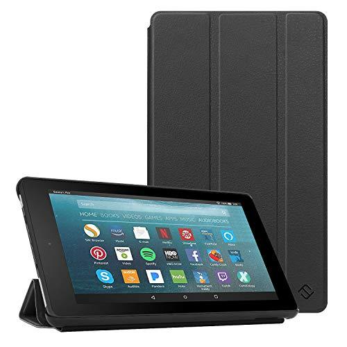 Fintie Hülle kompatibel für Fire 7 Tablet (9.Generation - 2019) - Super Slim Lightweight Schutzhülle Tasche mit Standfunktion & Auto Schlaf/Wach Funktion, Schwarz
