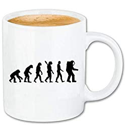 Reifen-Markt Kaffeetasse Astronaut - Raumfahrt - Weltraum - NASA - Space Shuttle Keramik 330 ml in Weiß