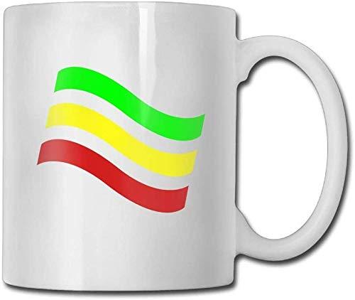 Ethiopian Flag Coffee Mugs 11 Unzen Neuheit Geschenk Keramik Teetasse Kaffeetasse 11oz das perfekte Geschenk für Familie und Freunde