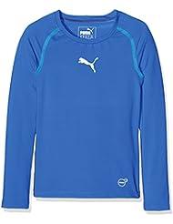 Puma Camiseta de manga larga para niños, infantil, color azul cobalto, tamaño 116
