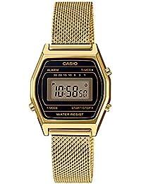 Casio LA690WEMY-1 - Reloj Digital con cronógrafo y Correa de Malla en Tono Dorado
