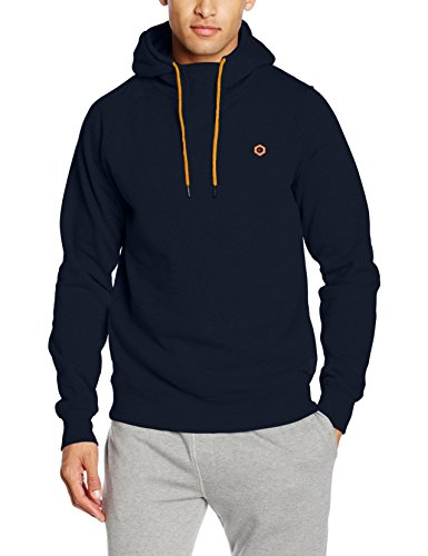 JACK & JONES JCOPINN SWEAT HOOD NOOS, Sweat-Shirt À Capuche Homme, Bleu (Navy Blazer), Larg