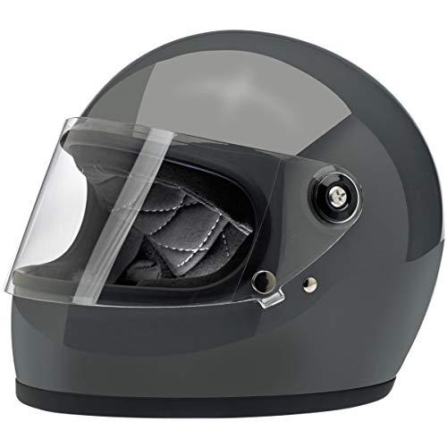 Biltwell Gringo S casco de motocicleta gris brillante de cara completa