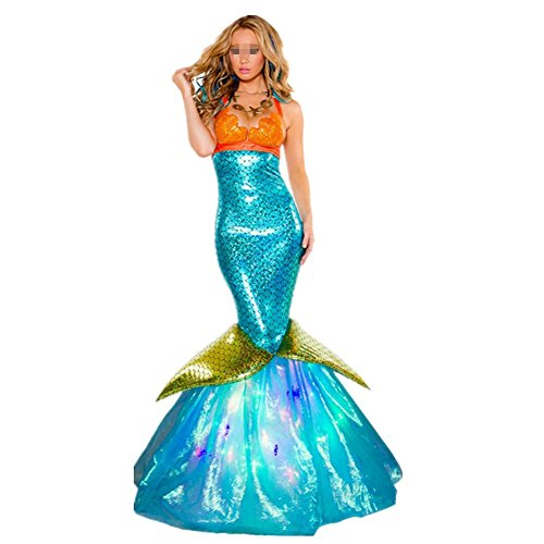 Imagen de disfraz de sirena princesa para mujer cosplay mermaid