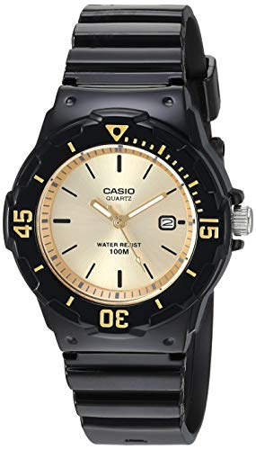 Casio Women's Classic Stainless Steel Quartz Watch with Resin Strap, Blue, 10.6 (Model: LRW-200H-9EVCF) -