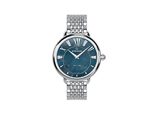 Eterna Lady Eterna Quartz Watch, ETA 956.412, 34mm, Diamonds, Mother of Pearl