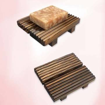 Retro Natural Wooden Soap Holder Handmade Soap Shelf by AC2