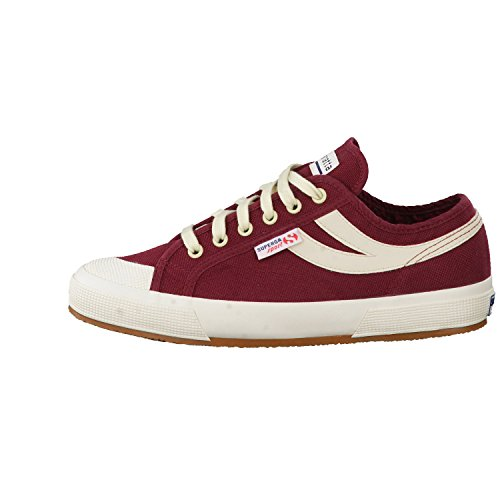Superga 2750-Cotu Panatta, Baskets Basses Mixte Adulte Dark Bordeaux Ecru