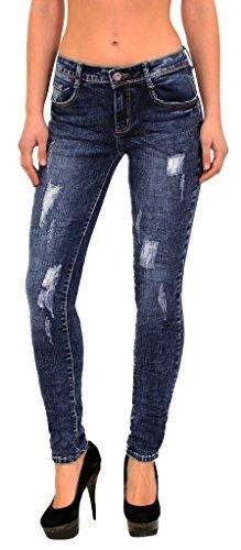 by-tex Damen Jeans Hose Straight Fit Jeans Röhren Jeans Damen Jeanshose Slim Fit Jeans große Größen S800 (Große Jean)