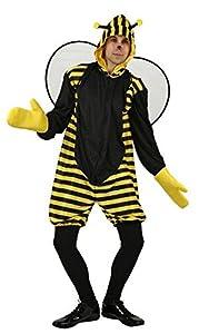 Atosa-95550 Atosa-95550-Disfraz Abeja-Adulto M a L- Hombre- amarillo, Color (95550)