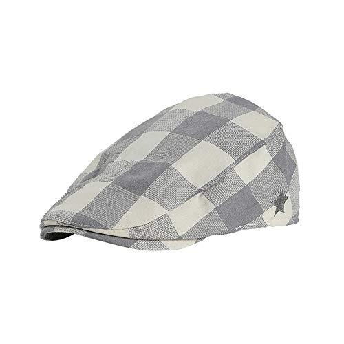 Cimenn Kinder Baskenmütze Cap, Girl Boy England Style Plaid Baumwolle Zeitungsjunge Hut (Hellgrau) - Grau Infant Baseball