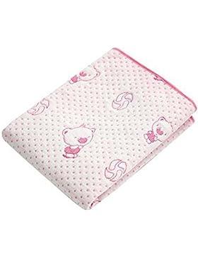 [50 * 70cm] almohadilla suave colchón transpirable bebé cuna, rosa oso