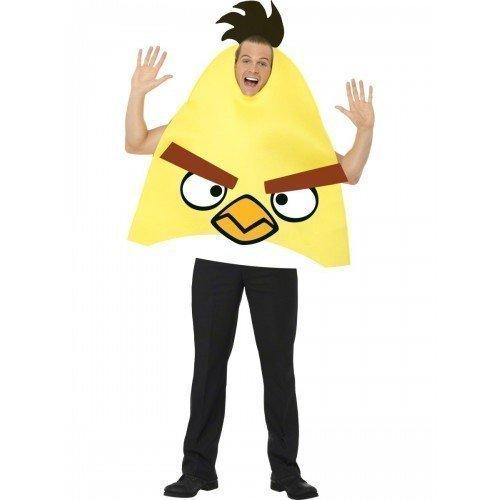 Herren Erwachsene gelb Angry Birds Comedy Junggesellenabschied Spaß Kostüm Kleidung medium (Gelbe Angry Bird Kostüme)