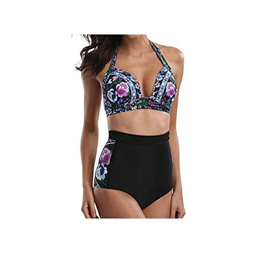 Swimsuit High Waist Bikini Women's Swimming Suit Separate Two Pieces Swimsuits Push Up Bikini Set Floral Plus Size Swimwear Black L - 3-piece Shave Set