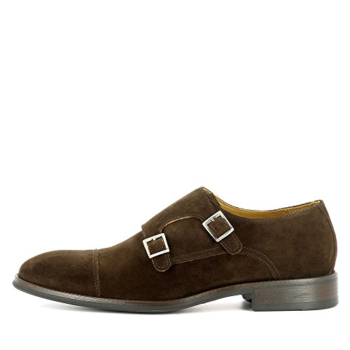 Evita Shoes Stefano Herren Slipper Rauleder Dunkelbraun