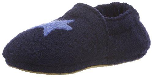 Nanga Unisex - Kinder Sternchen Krabbel- & Hausschuhe, Blau (dunkelblau / 32), 22 EU