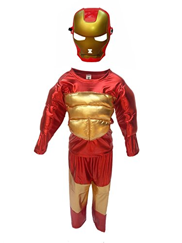 KFD Iron Man fancy dress for kids,Super Hero Costume for Annual function/Theme Party/Stage Shows/Competition/Birthday Party Dress