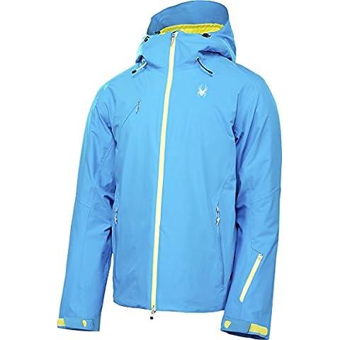 Spyder Uomo Giacca-sci 143002-480 Bianco Spyder Pryme giacca Electric Blue RECCO (BLU, XXL)