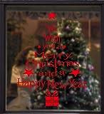 UMIPUBO NoëL Autocollants Décalcomanie Fenetre Arbre de Noel Voeux Amovibles Statique DIY Stickers Fête de Noël Décoration Cadeau de Noël pour Magasin Maison