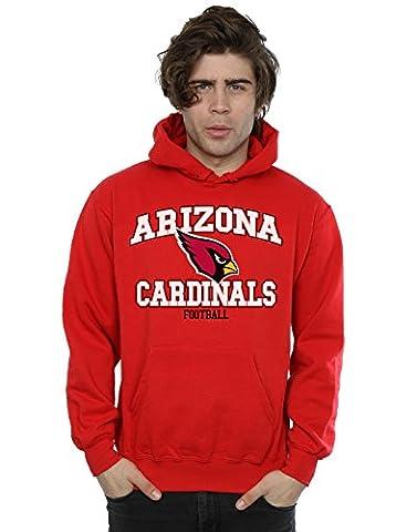 Majestic Homme NFL Arizona Cardinals Football Alt Sweat à capuche Large Rouge