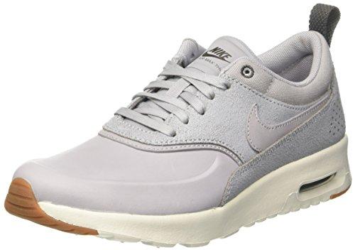 Nike Damen WMNS Air Max Thea PRM Sneaker, Grau Wolf Grey/sail/Midnight Fog/Gum Med Brown, 36.5 EU - Nike Glitter Frauen