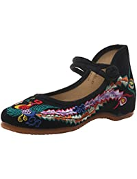Phoenix Embroidery Flats Single Shoes Fashion Woman Embroidered Dance Shoes  Chinese Antiquity Girl Getting Married Shoes 24088ce3a629