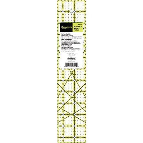 "Omnigrid Omnigrip by Non-Slip Quilter's Ruler 2.5""X12.5"""