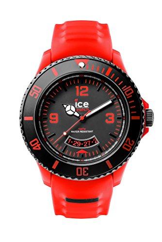 ICE-Watch - SU.RD.BB.S.14 - Ice Miami - Montre Homme - Quartz Analogique - Cadran Noir et Rouge - Bracelet Silicone Rouge
